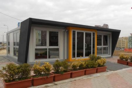 Prefabrik ofislərin tikintisi, modul tipli ofislər, prefabrik ofislerin tikintisi, qiymetleri, istehsali